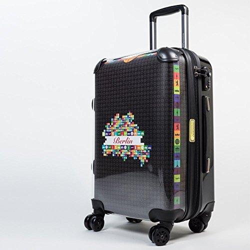 HAUPTSTADTKOFFER® 40 Liter (ca. 55 x 35 x 24 cm) · Handgepäck · Modell: STYLE · TSA Schloss · verschiedene Cover (Sonnenblume) Leopard