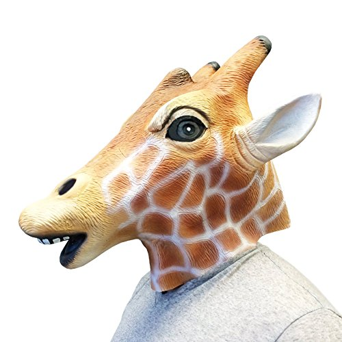 Queenshiny® Latex Tiermaske Halloween-Party-Kostüm (Giraffe Kostüme Erwachsene)