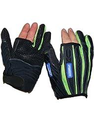 Por 2-sin guantes Madlad, color  - negro/verde lima, tamaño xx-large