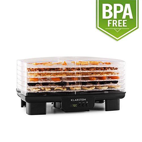 Klarstein Bananarama • Apparecchio di essiccazione • Essiccatore • Essiccatrice di frutta - carne ed agrumi • 6 piani • impilabile • 550 Watt • temperatura regolabile • modalità di...