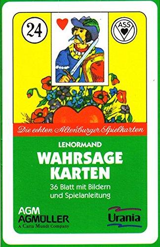 Lenormand Wahrsagekarten (Symbole): Die echten Altenburg-Spielkarten. 36 Baltt mit Bildern und Anleitung