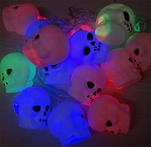 �LED Halloween Skelett Leuchtmittel Lampe Set batteriebetrieben LED Lichterkette für Heimwerker Masquerade Weihnachten Party Dekoration (Halloween Skelett Prop)