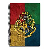#4: MC SID RAZZ Harry Potter Notebook Of House Crest 3 Multi5 Subject A4 Size Officially Licensed By Warner Bros , USA , Gift Set/Birthday Gift/Return Gift