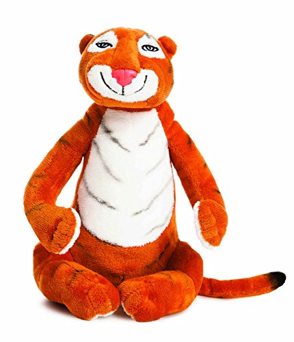The Tiger Who Came to Tea 60142 Soft Toy, 10.5-inches, Black, Character From The Book, Orange and White
