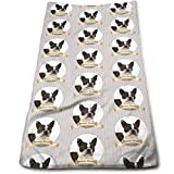 ewtretr Toallas De Mano,Boston Terrier Cool Towel Beach Towel Instant Gym Quick Dry Towel