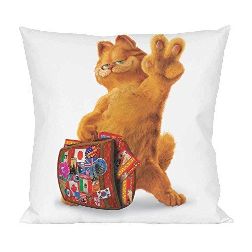 Garfield Vacation Animated Cartoon Pillow -