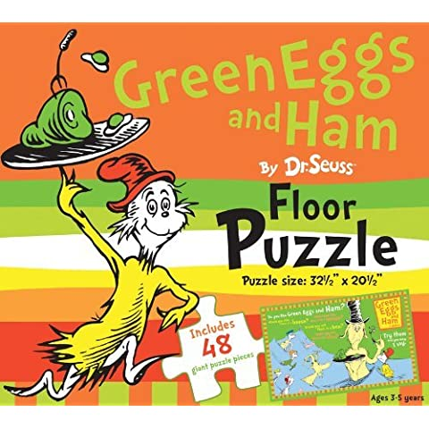 Green Eggs and Ham by Dr. Seuss Floor Puzzle: Includes