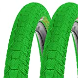 2x Kenda Fahrrad BMX Reifen Krackpot K-907 50-406 20x1.95 Draht grün