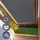KINLO Skylight Tenda Oscurante Velux CK04-38 x 75cm - Grigio Tenda a Rullo Adatta per Finestre per Tetti Termica per Finestre con Struttura Tazze di Aspirazione