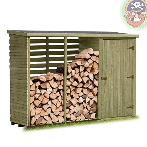 brennholzregal mit gerteschrank auen von gartenpirat. Black Bedroom Furniture Sets. Home Design Ideas