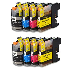 8 XL Colour Direct Compatible Ink Cartridges Replacement For Brother LC123 DCP-J132W DCP-J152W DCP-J552DW MFC-J650DW DCP-J752DW DCP-J4110DW MFC-J870DW MFC-J4410DW MFC-J4510DW MFC-J4610DW MFC-J4710DW MFC-J470DW MFC-J6720DW MFC-J6920DW MFC-J6520DW MFC-J870DW Printers