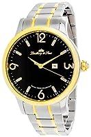 Lindberg & Sons LSSM205 - Reloj de pulsera con fecha analogico para hombre, de cuarzo, calibre suizo, acero inoxidable, plateado de Lindberg & Sons