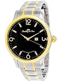 Lindberg & Sons LSSM205 - Reloj de pulsera con fecha analogico para hombre, de cuarzo, calibre suizo, acero inoxidable, plateado