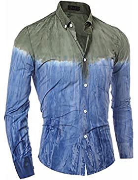 Camisa de manga larga y 3d tie-dye casual Hombres camiseta manga larga.