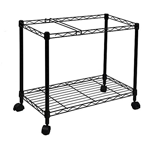 Oceanstar Portable 1-Tier Metal Rolling File Cart, Black - Mobile Nero File Cabinet