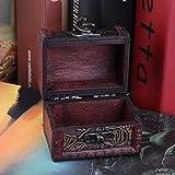 Vintage Persönlichen Schmuck Display Box Halskette Armband Ringe Lagerung Organizer