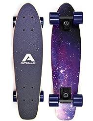 Apollo Fancy Board - Vintage Cruiser , Board complet | Taille: 22.5'' (57,15 cm) | Skateboard: petit et maniable| différentes couleurs