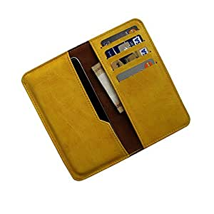 i-KitPit : PU Leather Wallet Flip Pouch Case Cover For Lenovo A328 (YELLOW)