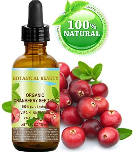 Radiance Emulsion (Botanische Schönheit ORGANIC CRANBERRY-SAMEN-ÖL 100% rein / VIRGIN / UNREFINED / unverdünnt. 1 fl.oz -30 ml. Haut-, Körper-, Haar- und Nagelpflege.)