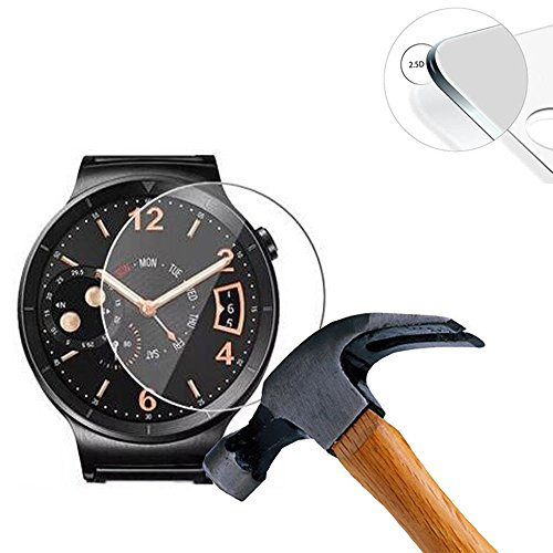 Lusee 2 X Pack Panzerglasfolie für Smart Watch/Smartwatch Diameter 32mm Tempered Glass Hartglas Schutzfolie Folie Displayschutz 9H (mit weißer Randreparaturflüssigkeit)