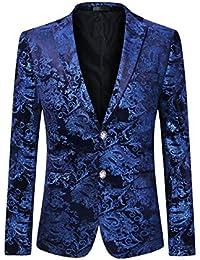287b989e9f Allthemen Men s Casual Blazer Paisley Jacquard Suit Jackets Slim Fit Floral  Print Stylish Blazer Coats Chic