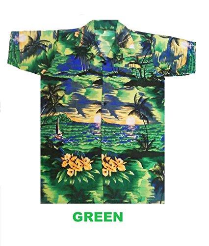 Camisa hawaiana para hombre, diseño de playa y palmeras, para la play