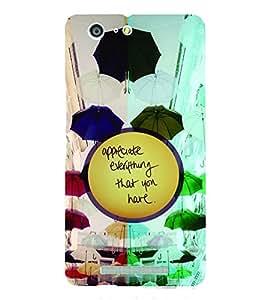 PrintVisa Quotes & Messages Attitude Life 3D Hard Polycarbonate Designer Back Case Cover for Gionee Marathon M5
