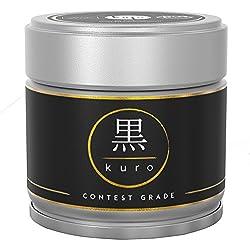 Matcha Kuro – Handgepflückter Premium Bio-Matcha-Tee aus Japan (30g) – Extrafeines Grüntee-Pulver bio-zertifiziert nach DE-ÖKO-006 – voll beschattet