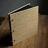 Debon multiuso retro Burlap Album fotografico fai da te manuale Scrapbook Square