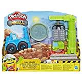 Play-Doh Wheels - Pate A Modeler - Grue et Chariot Elevateur