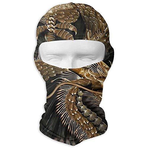 Jxrodekz Chinese Goldren Dragon Motorcyle Gesichtsmaske Multifunktionssport Magie Headwear Tuff-dome