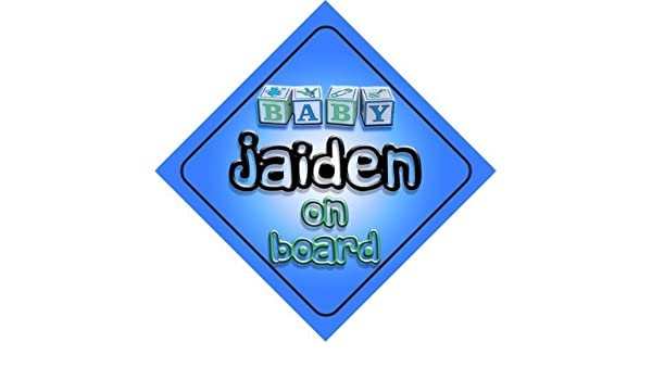 newborn baby Baby Girl Jaiden on board novelty car sign gift present for new child