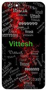 Vittesh (Lord Of Wealth) Name & Sign Printed All over customize & Personalized!! Protective back cover for your Smart Phone : Moto G-4-PLAY