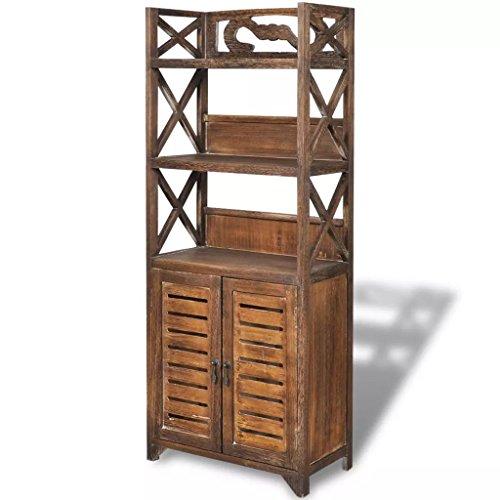 Fzyhfa armadietto per bagno albuquerque in legno marrone 46x24x117,5cm design unico, comodo, confortevole e bello, robusto e resistente. cassapanca contenitore cassapanca da interno