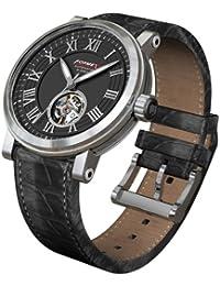 Formex 4 Speed 480.1.6320 - Reloj analógico automático para hombre con correa de piel, color negro