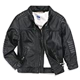 LJYH Children's Collar Motorcycle Leather look Coat Boys Faux Leather Jacket T3-12