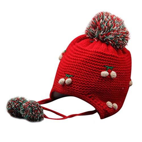 Babybekleidung Hüte & Mützen Longra Baby Kinder Mädchen Winter Earflap Pfirsich Kinder Mütze stricken Hüte kalt Cap Warm (12-72 Monate ) (Kleid Kinder Für Pilot)