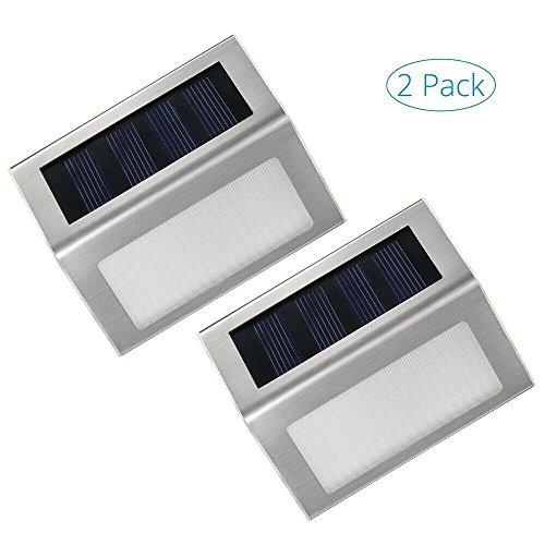 Lmpara-solares-ExteriorImpermeable-Luz-SolarIluminacion-solar-de-CaminosSeguridadpara-ParedEscalerasJardn-con-acero-inoxidable1-Pack-de-2-piezas