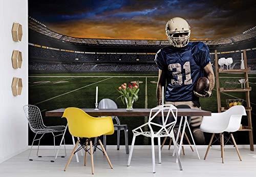 American Furniture Warehouse (Wallsticker Warehouse American-Football-Spieler Stadion Vlies Fototapete Fotomural - Wandbild - Tapete - 368cm x 254cm / 4 Teilig - Gedrückt auf 130gsm Vlies - 1114V8 - Fußball & Sport)