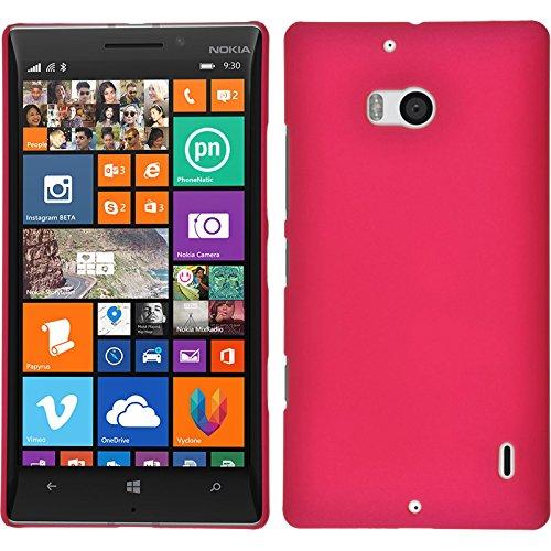 PhoneNatic Custodia Rigida per Nokia Lumia 930 - gommata rosa caldo - Cover + pellicola protettiva