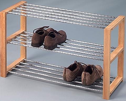 2-2-1-2266: schönes Schuhregal - moderne Schuhbank - große Schuhablage - 80cm breit - bucheton