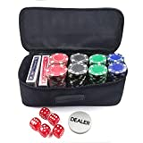 Smiledrive 200 pcs Casino Chips Poker Set with Multi-Purpose Carry Bag, 2 Sets