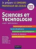 Sciences et technologie - Professeur des écoles - Oral admission : CRPE 2016 (Concours enseignement) (French Edition)