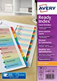 Best Avery Dividers - Avery 01971501 A4 ReadyIndex Pre-Printed Punched Dividers, 10 Review