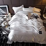 Mrtie Gewaschene Seide Vierteilige Baumwolle Bettwäsche Continental Satin Hochzeit Hotel Baumwolle Solide Tencel Quilt Bettwäsche Vierteilige 1,5 Und 1,8 M Bettdecke Abdeckung 200 * 230 Cm Bettbezug 2