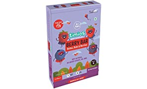Timios Berry Bar | Healthy Snack for Kids | Natural Energy Food Product for Toddlers | Nutritious and Ready to Eat for Children 4+ Years Pack of 4