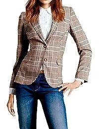 1c94d92068b7 Simple-Fashion Frühling und Herbst Anzug Mäntel Damen Mode Gitter Slim Tops  Outerwear Bequeme Oberteile
