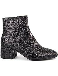 Ash Zapatos Dragon Negro Glitter Botines Mujer