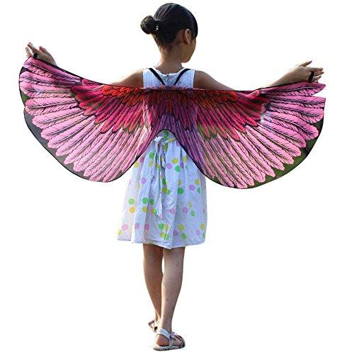 TEBAISE Chiffon Klassisch Party Karneval Jungen Mädchen Dchen Bohemien Schmetterling Flügel Oder Kinder Adlerflügel Schal Cosplay ZubehöR Kind FlüGel Umhang Fasnacht Kostüm Pashmina Cape Poncho
