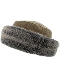 032a70d86e2e4 AE10 Hawkins Ladies 100% Wool Tweed Hat with Super Soft Fur Trim (Teflon  coated